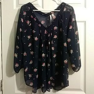 Chiffon blouse.